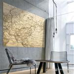【ARDENNES】壁紙 壁布 中世紀仿古地圖 法國進口 / 居家佈置 DIY / MAP002