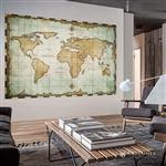 【ARDENNES】壁紙 壁布 中世紀仿古地圖 法國進口 / 居家佈置 DIY / MAP003