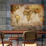 【ARDENNES】壁紙 壁布 中世紀仿古地圖 法國進口 / 居家佈置 DIY / MAP008