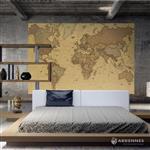 【ARDENNES】壁紙 壁布 中世紀仿古地圖 法國進口 / 居家佈置 DIY / MAP010