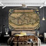 【ARDENNES】壁紙 壁布 中世紀仿古地圖 法國進口 / 居家佈置 DIY / MAP012