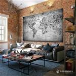 【ARDENNES】壁紙 壁布 中世紀仿古地圖 法國進口 / 居家佈置 DIY / MAP013-2
