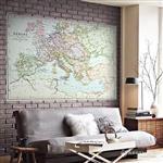 【ARDENNES】壁紙 壁布 中世紀仿古地圖 法國進口 / 居家佈置 DIY / MAP014