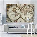 【ARDENNES】壁紙 壁布 中世紀仿古地圖 法國進口 / 居家佈置 DIY / MAP016