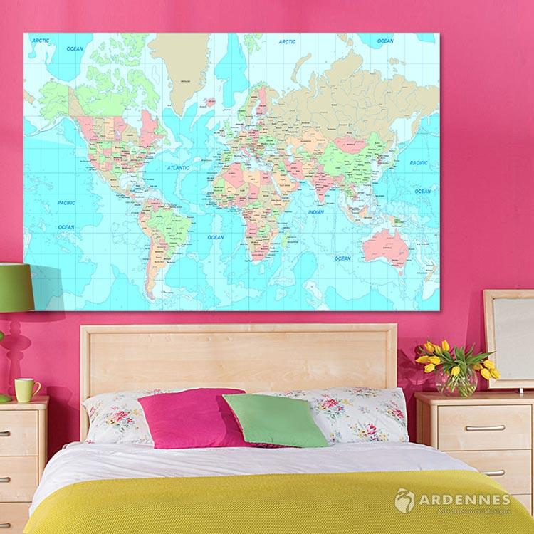 【ARDENNES】壁紙 壁布 中世紀仿古地圖 法國進口 / 居家佈置 DIY / MAP017