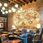 【ARDENNES】壁紙 壁布 中世紀仿古地圖 法國進口 / 居家佈置 DIY / MAP018