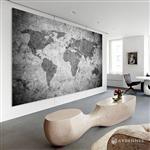 【ARDENNES】壁紙 壁布 中世紀仿古地圖 法國進口 / 居家佈置 DIY / MAP019-2
