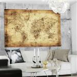 【ARDENNES】壁紙 壁布 中世紀仿古地圖 法國進口 / 居家佈置 DIY / MAP020