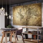 【ARDENNES】壁紙 壁布 中世紀仿古地圖 法國進口 / 居家佈置 DIY / MAP021