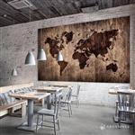 【ARDENNES】壁紙 壁布 中世紀仿古地圖 法國進口 / 居家佈置 DIY / MAP022