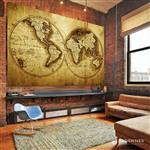 【ARDENNES】壁紙 壁布 中世紀仿古地圖 法國進口 / 居家佈置 DIY / MAP023