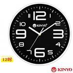 KINYO 生活Style-12吋時尚靜音掛鐘