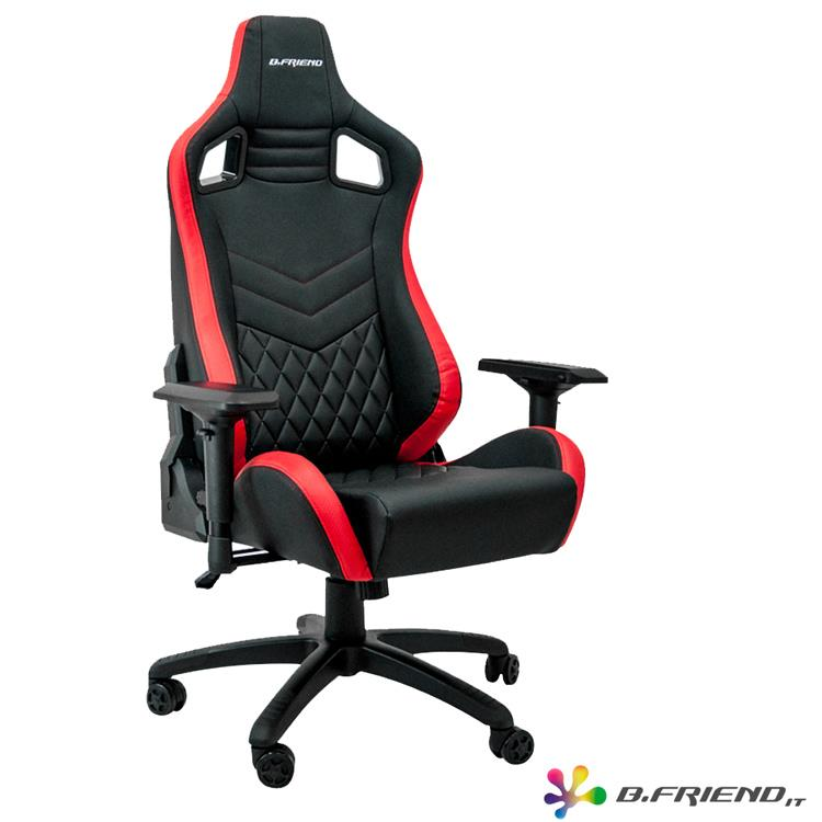 B.Friend GC05 電競專用椅-紅黑