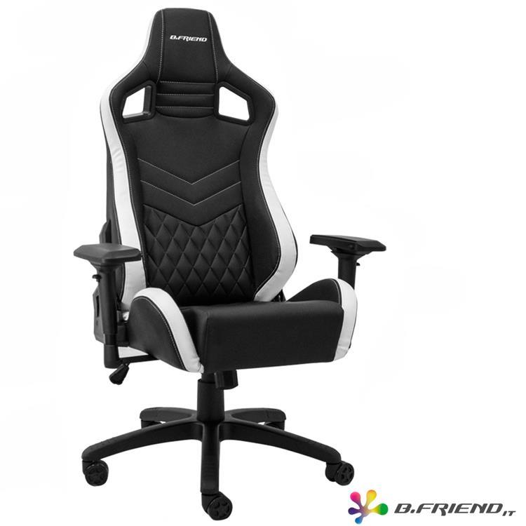 B.Friend GC05 電競專用椅-白黑