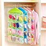 衣櫥衣架收納16格牆上壁掛式飾品儲物袋/收納袋(顏色款式隨機出貨)