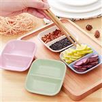 環保小麥粒日式兩格調味盤/碟子/醬料碟(顏色款式隨機出貨)