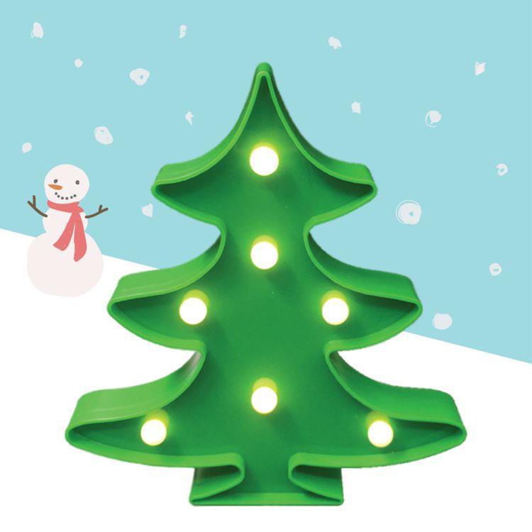 大力女造型LED小夜燈-聖誕樹