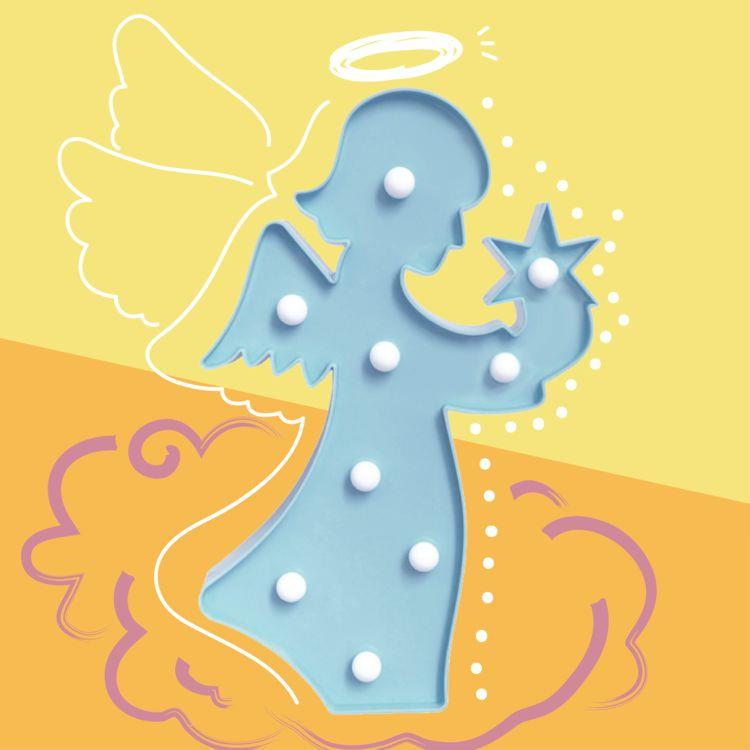 大力女造型LED小夜燈-藍天使