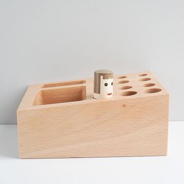 TOSMU 童心木 木製收納座-戳戳樂