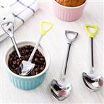 偽裝系小鏟子握柄湯匙叉子不鏽鋼餐具-大叉子(顏色隨機出貨)
