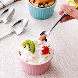 偽裝系小鏟子握柄湯匙叉子不鏽鋼餐具-小湯匙(顏色隨機出貨)