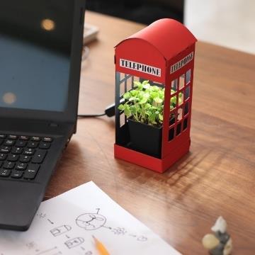 【FESCL】Paper Garden LED迷你植物燈/電話亭(含運)