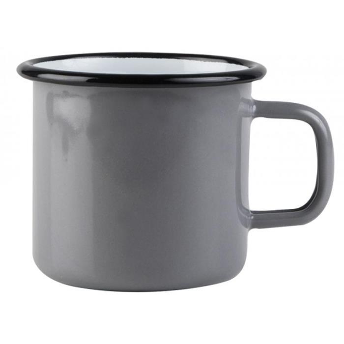 【芬蘭Muurla】 基本灰琺瑯馬克杯370cc 咖啡杯/琺瑯杯