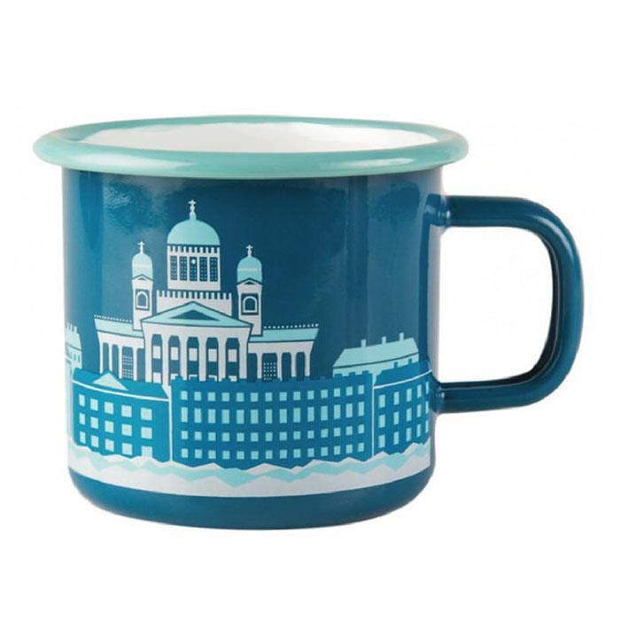 【芬蘭Muurla】海港 琺瑯馬克杯370cc 咖啡杯/琺瑯杯
