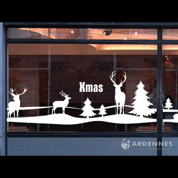 Christine耶誕節慶佈置/牆貼/玻璃貼/ MA022銀白大地