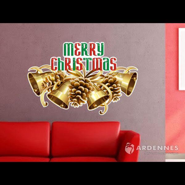 Christine聖誕節慶佈置/壁貼 玻璃貼/ MB034聖誕鈴聲響