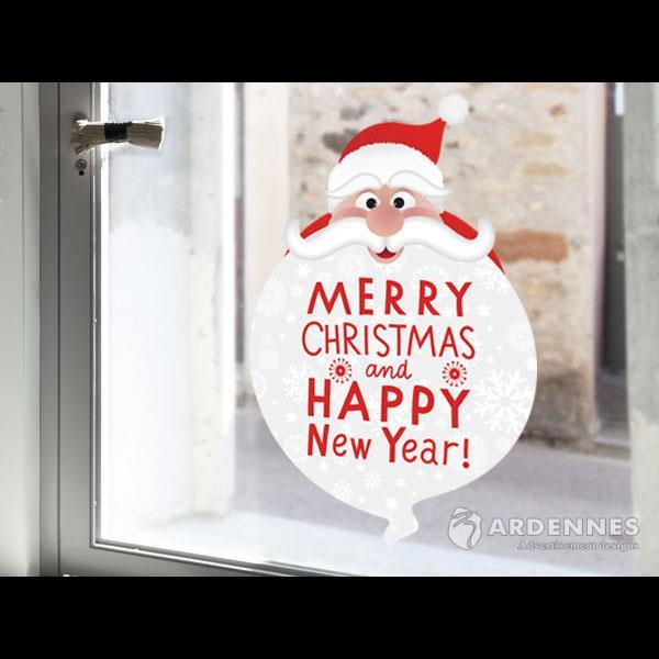 Christine聖誕節慶佈置/壁貼 玻璃貼/ MB035聖誕大鬍子