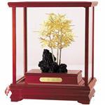 鹿港窯-立體金箔畫-節節高昇(櫥窗系列29x17cm)