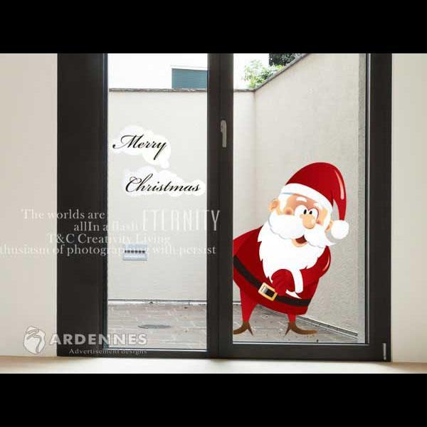 Christine聖誕節慶佈置/壁貼 玻璃貼/MB015 我愛聖誕節(小)