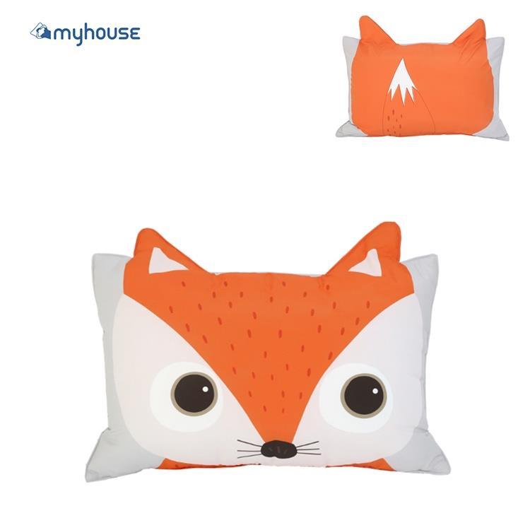 【虎兒寶】myhouse 韓國防蟎抗敏可愛動物夥伴雙面枕頭套 - 狐狸