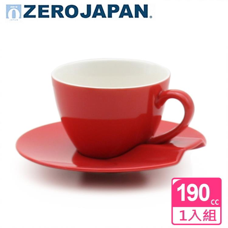 【ZERO JAPAN】杯盤組190cc(蕃茄紅)