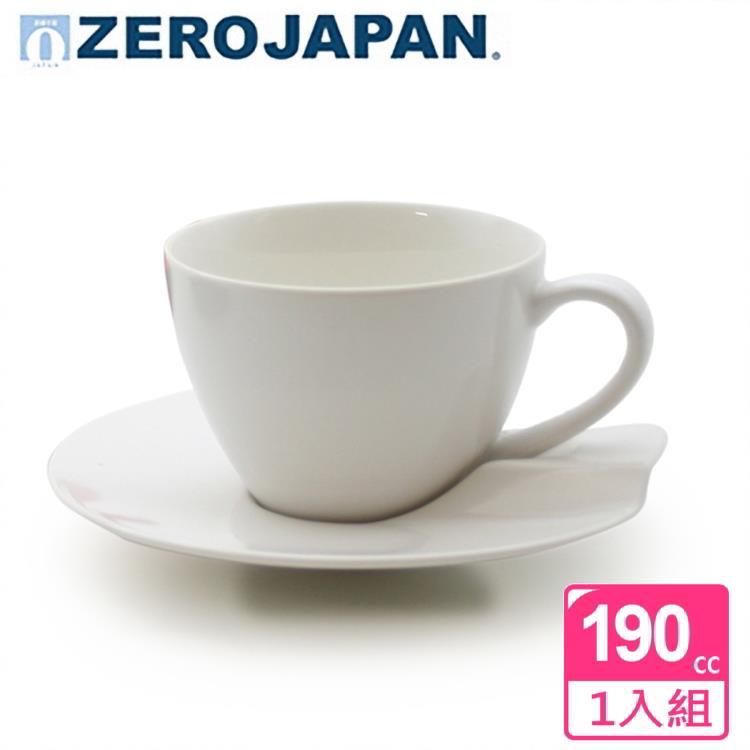 【ZERO JAPAN】杯盤組190cc(白)