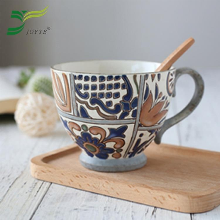 【JOYYE陶瓷餐具】花如玉手繪C把杯-G