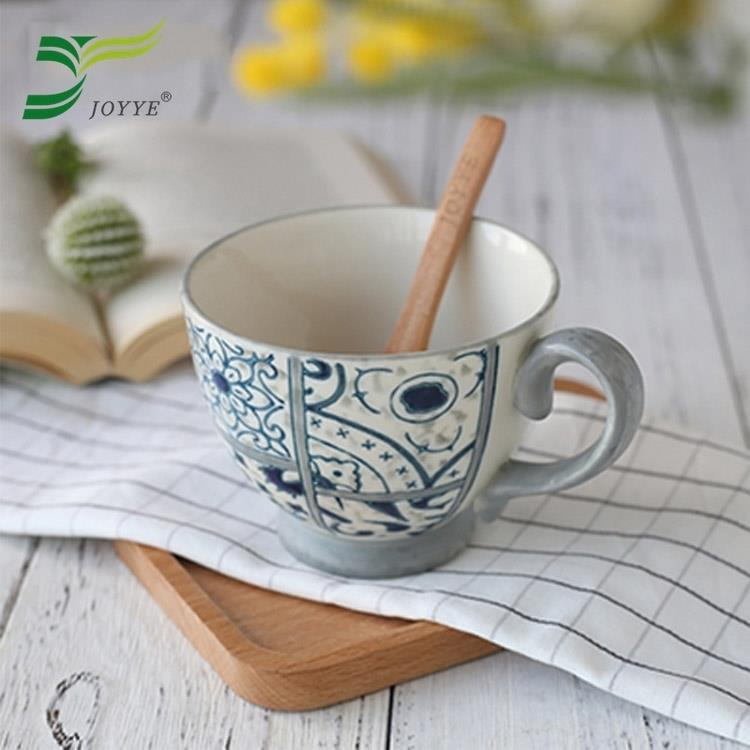 【JOYYE陶瓷餐具】花如玉手繪C把杯-H