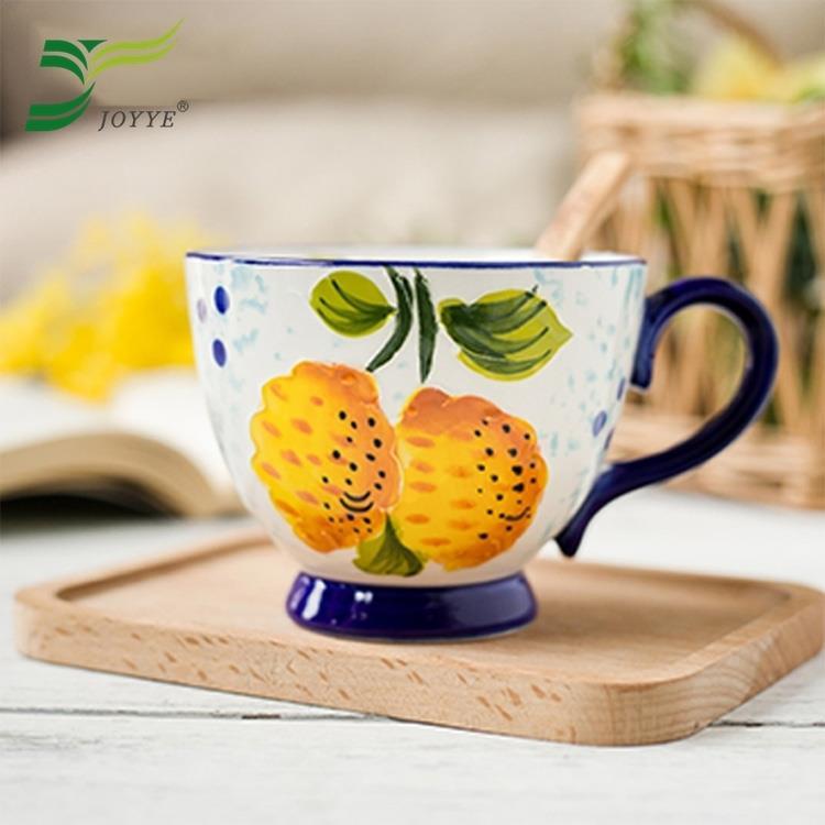 【JOYYE陶瓷餐具】花如玉手繪C把杯-I