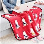 一起熱身運動伸展圍巾貓午睡毯/小毛毯/懶人毯/披肩/蓋毯/寵物毯(灰色)