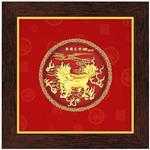 My Gifts-立體金箔畫-圓形系列 麒麟呈祥21x21cm