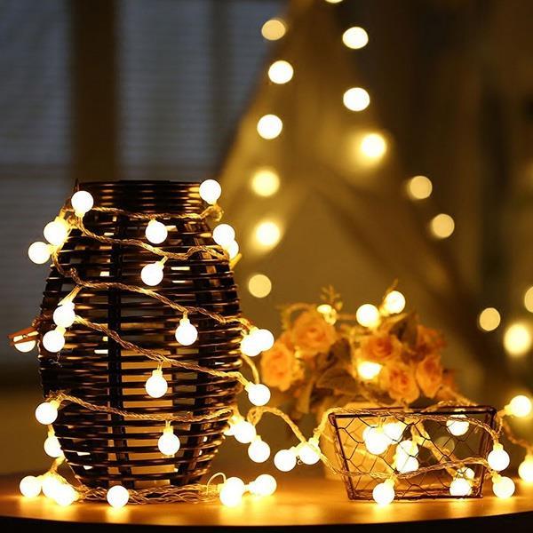 內室裝飾LED小圓珠小燈串(2米20燈)