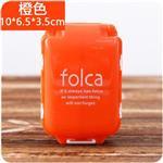 Folca三段攜帶式迷你隨身藥盒/收納盒/工具盒(橙色)