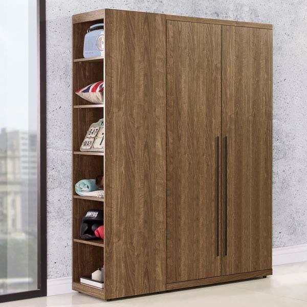Yostyle 格林3.7尺衣櫃(胡桃木紋)