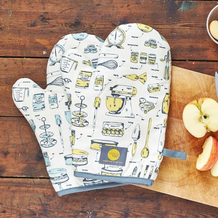 英國蛋 有機棉烤箱手套 麵包師傅