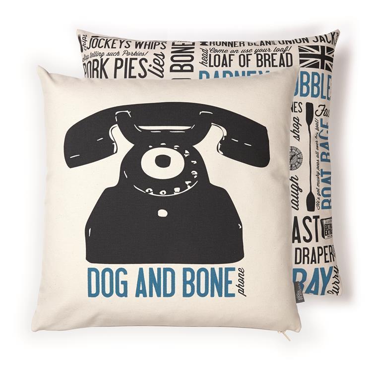 英國蛋 純棉抱枕套 狗狗與骨頭
