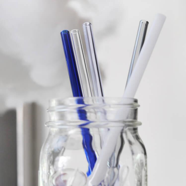 【MSA環保小物】(口徑0.8cm)彩色玻璃吸管20cm (附贈清潔刷+收納袋)