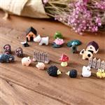 微景觀迷你小動物盆栽裝飾品 (3入裝)-烏龜