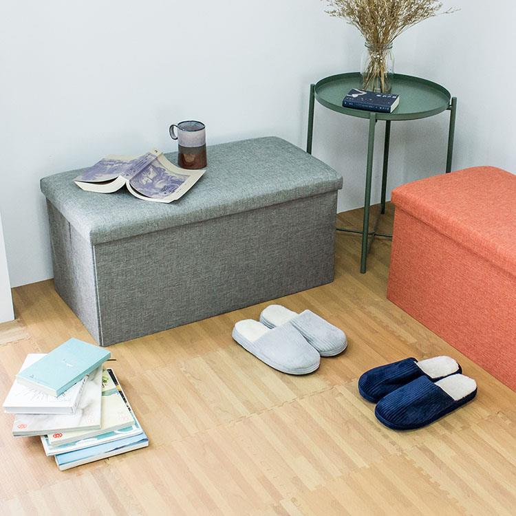 可收折多功能收納穿鞋椅凳-110L/25L