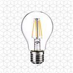 順合光電 全電壓 A60 4W E27 LED復古鎢絲燈泡 黃光(2入)